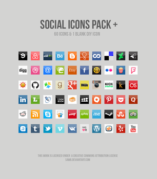 Social Icons Pack + by siannve