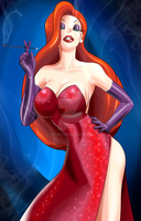JESSICA RABBIT COMMISSION by Solfei