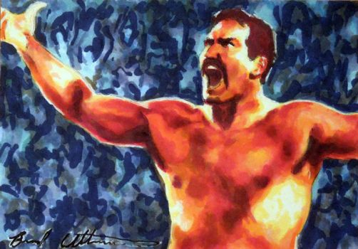 Dan The Beast Severn sketch card by therealbradu