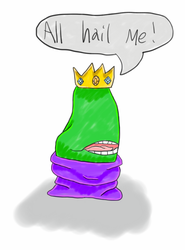 Hail Overlord Biting Pear! by xCrypticDreams
