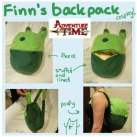 Finn's backpack Adventure Time cosplay by scilk