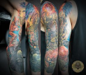 lord of the ring sleeve complete by 2Face-Tattoo