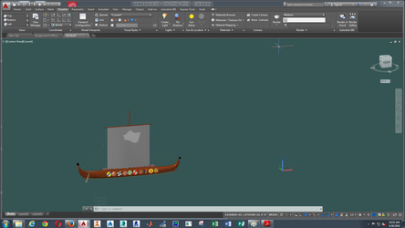 Side View of Viking Boat by Mistress-of-Emotions