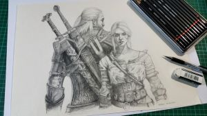 Geralt and Ciri - The Witcher 3 [Finished] by Lee-Lam
