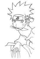naruto_lineart by 13ride89