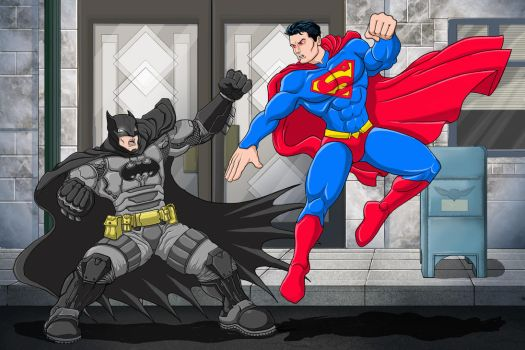 Batman Vs Superman by iangoudelock