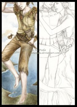 Peter Pan and Little Mermaid bookmarks by Achen089