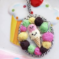 Ice Cream Cameo Necklace by AndyGlamasaurus