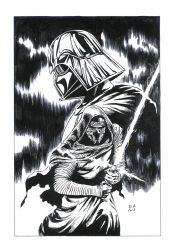 Kilo Rein and Darth Vader by Daniel-Alexandre