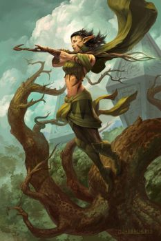 Nissa, Worldwaker by PeteMohrbacher