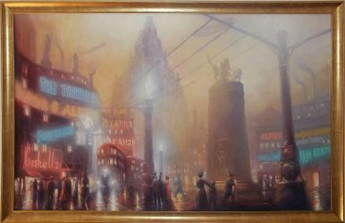 Phobos Square painting (for sale) by PeteAmachree