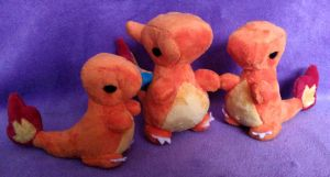 Charmander Line Chibi Plushies by Lighiting-Dragon