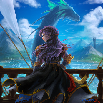 FF5 - Faris and Syldra by Dice9633