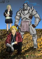 Full Metal Alchemist Fanart - Ed, Al, and Winry by LauraSeabrook