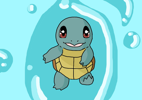 Gotta draw 'em all- Squirtle Wallpaper by DrawingIrene