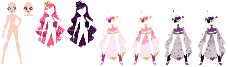 Lolirock Iris Transformation Base by PainterEde