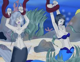 40 point commission Double mermaid peril by kingofthedededes73