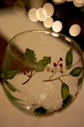 Christmas Wine Glasses II by LDFranklin