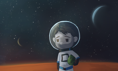 Sips in Space cropped version by CrystalBluePuppy