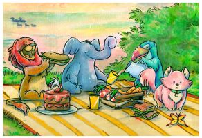 animal picnic by doingwell