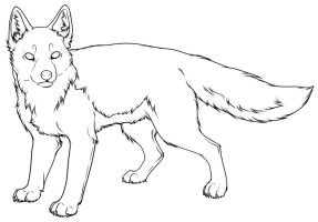 Swift Fox Lineart A by PantheraCorax