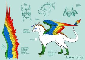 Featherscales-Ref by Lunaromon