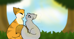 Lionblaze and Dovewing by Bindiluckycat