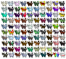 100 Cat Adoptables #1 OPEN by AnimalLover670
