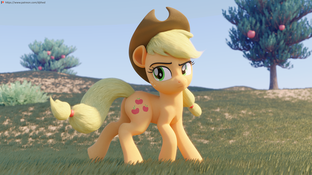 Wandering Applejack by TheRealDJTHED