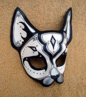 Black and White Persian Cat Mask by merimask