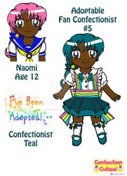 C.C. Adoptable Revealed: Confectionist Teal by Magical-Mama