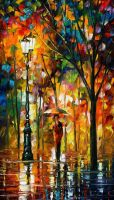 Circle Of Comfort by Leonid Afremov by Leonidafremov