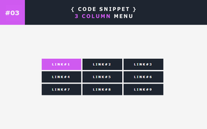 [03] Code Snippet - 3 Column Menu by Gasara
