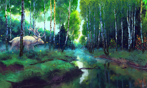 Forest silence by Mothka