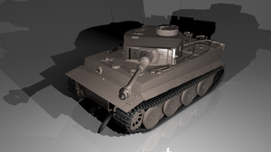 TIGER I H1 #3 WIP by MinderX