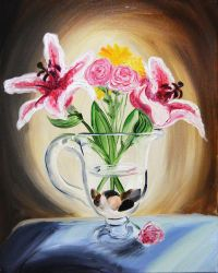 Flowers In Oil by TravelingArtist93