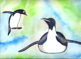 Penguins (finished... or is it?) by luartandcomics