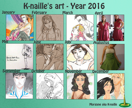 K-naille's Year in art - 2016 by K-naille