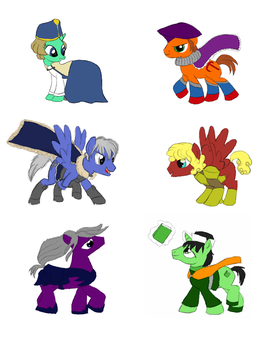 My Little Brigandine: The Mane Six by SuzuriHeinze