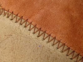 leather stitching 1 by ElleStock