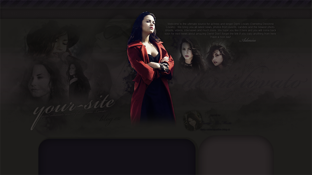 Demi Lovato Layout by Renesmeedevil