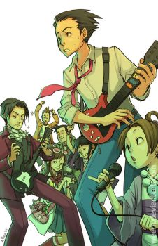 Phoenix Wright: Ace Guitarist by weem