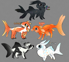 Goldfish with legs auction CLOSED by Lighterium