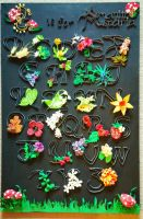Quilled Plant Alphabet by El-Sharra