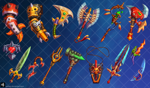 weapons collection by animot