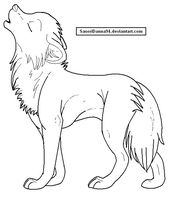 Howling Wolf Template by SasoriDanna94