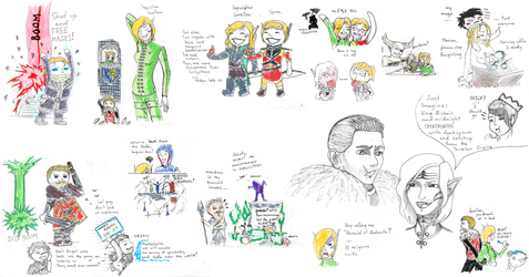 Dragon Age 2|Inquisition sketch dump by DafnaSmith