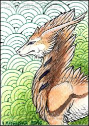 ACEO Whitew3r3wolf by LadyFromEast