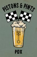 Pistons and Pints Poster by recipeforhaight