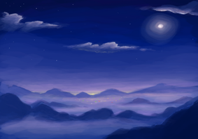 Sea of Clouds - WIP by BellaCielo